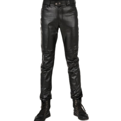 2013 new style fashionable men's pants, men's Korean slim men's leather pants feet pants tight male trousers