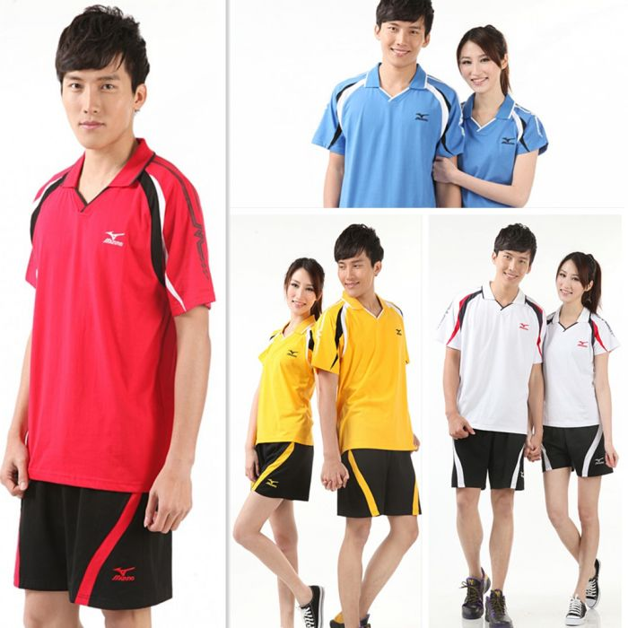 Mizuno new cotton men 's/women's volleyball clothing contest suit child size, invoice printing