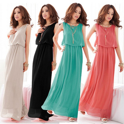 Elegant chiffon dress beach dress good waves