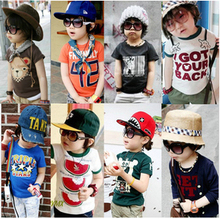 Special love children Babe 2013 summer Korean version of the new cartoon baby children Boys Girls short-sleeved T-shirt