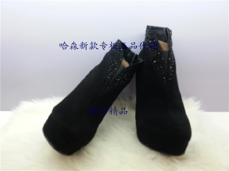 哈森专柜正品 卡迪娜kadina2013新款女鞋 短靴冬款ka36302图片