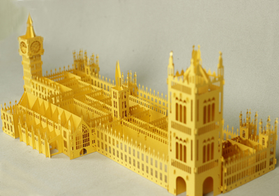 Castle Palace of Westminster model paper sculpture assembled DIY manual material produced since ancient architecture paper model