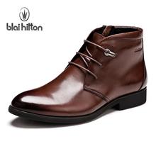 潮流男靴子韩版英伦马丁靴男士皮靴短靴高帮皮鞋真皮冬季男鞋军靴