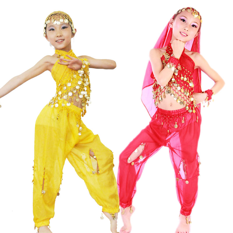 儿童肚皮舞套装新款少儿六一演出服舞蹈服印度舞表演服装舞台装