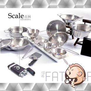 Sales simulation stainless steel kitchen kitchenware tableware drop resistance the baby House children toys
