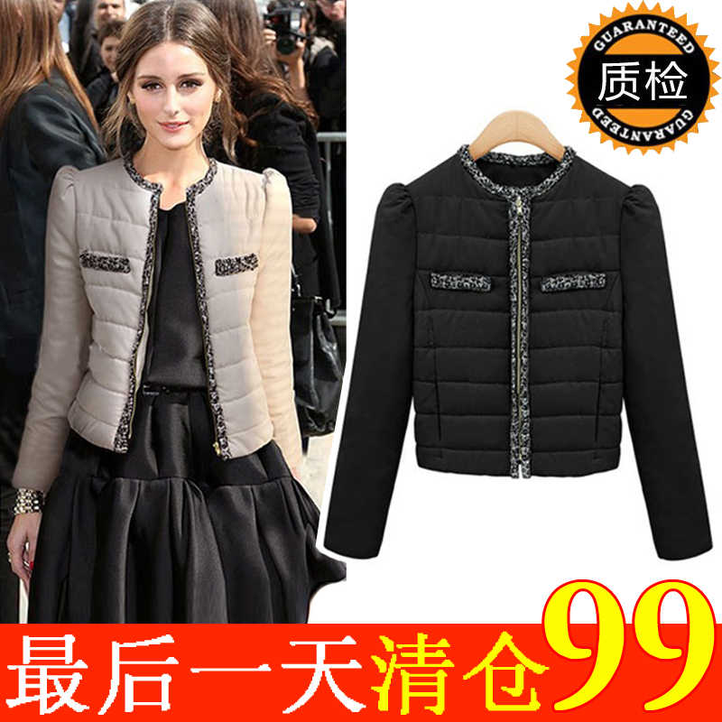 2012 winter clothing jacket new Europe and ladies ' thick coat small xiangfeng slim plus size coat short coat