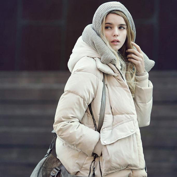Женский пуховик Zara 2013 Полиэстер