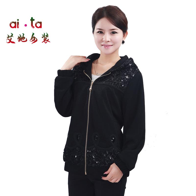 中年女装秋装外套2013中老年女装妈妈装秋装长袖夹克上衣中木子