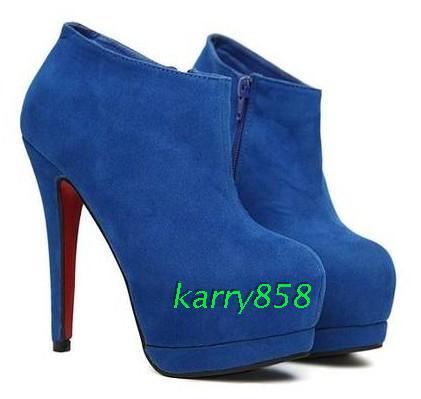 Женские сапоги Ботинкиполусапожкиосень ультра высокий каблук Женская обувь Осень 2013