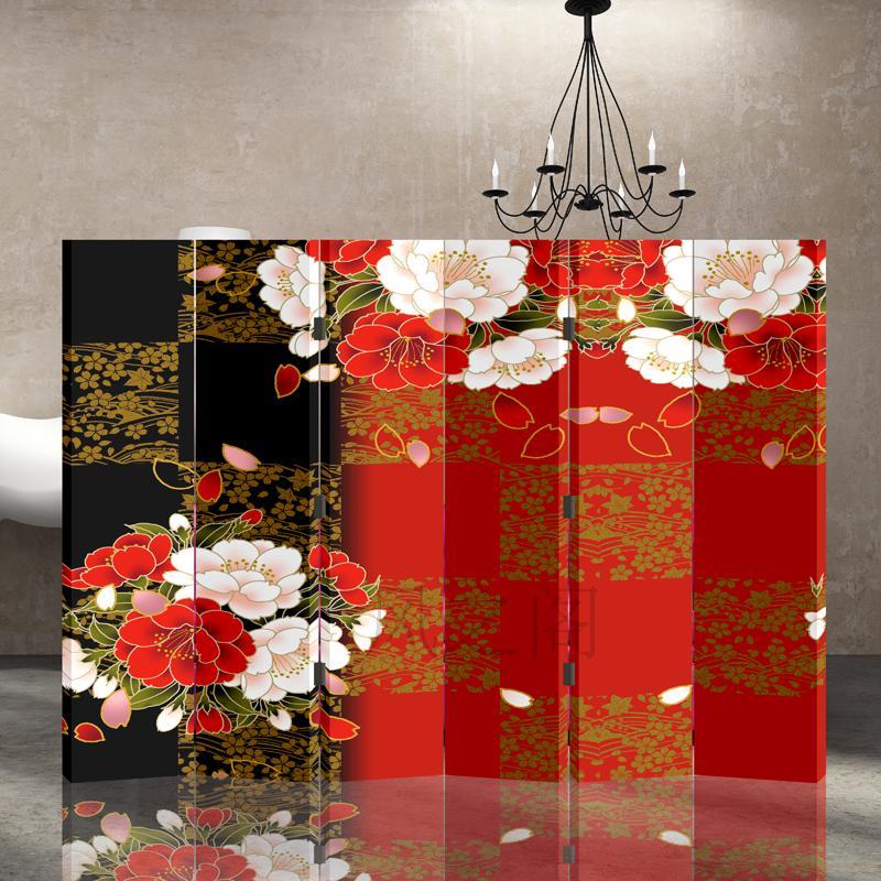 ширма Творческий дом кабинет перегородки Туалетная комната специальные 6 экранов с серебряной ложкой цветок
