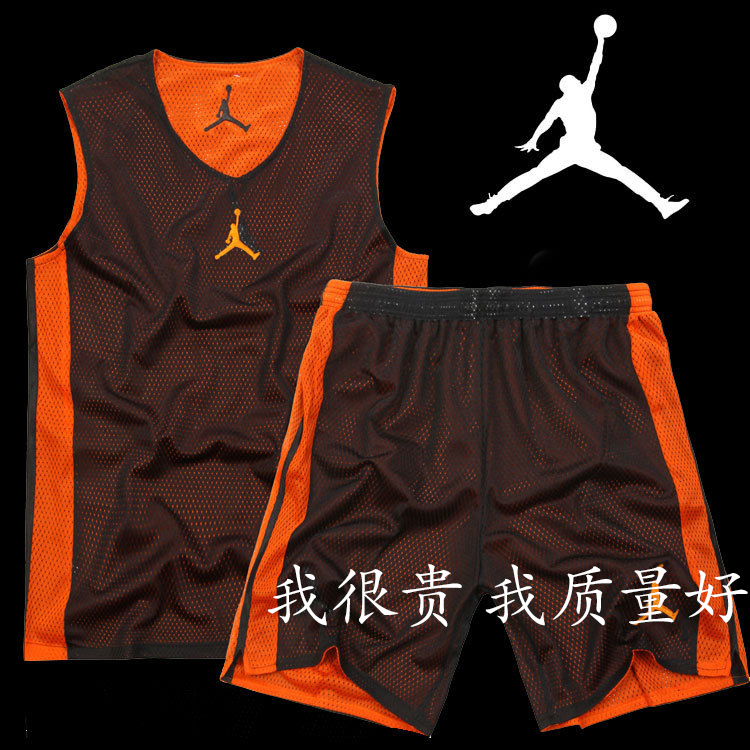 Michael Jordan NBA basketball clothes suit men's basketball jerseys basketball clothes training suit vest print double-sided printing, increased