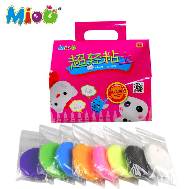 Mi Ou mud sticks lightweight clay Kit 8 color set in space 3D color genuine children's toys