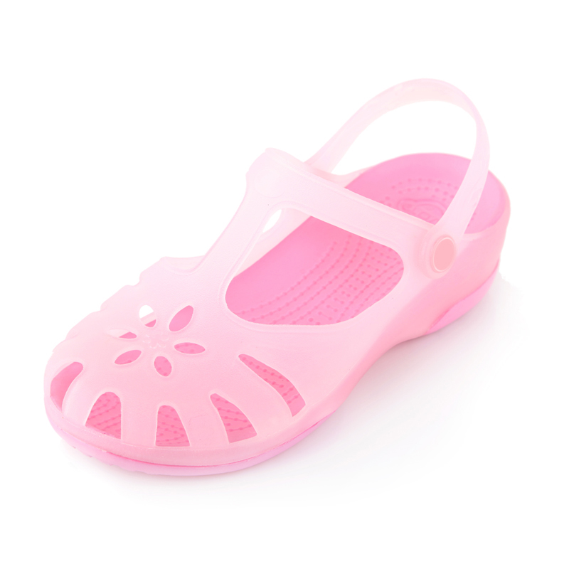 Product kalimalizhen color-changing hole in summer shoes, jelly sandals, flat shoes with slippers, massage sandals