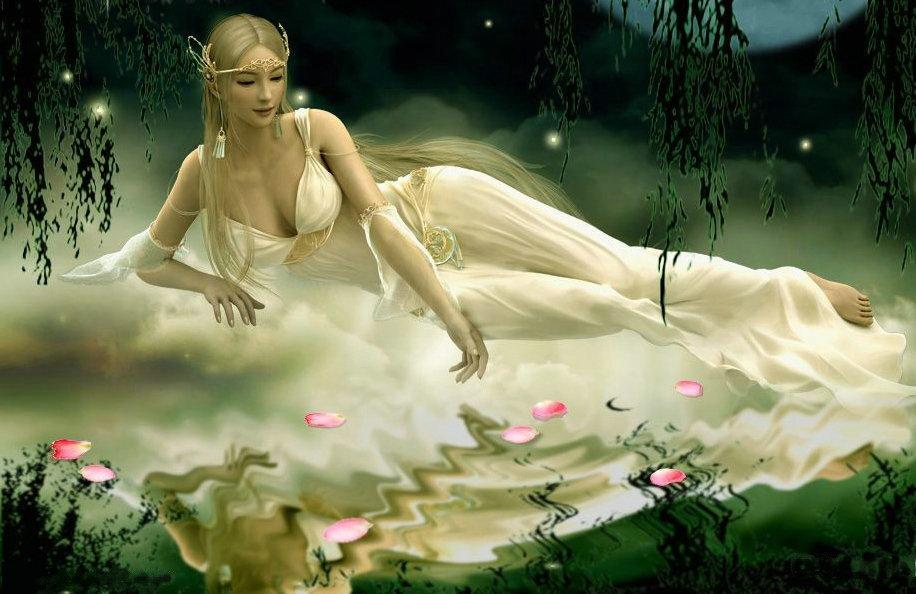 包邮亲吻鱼十字绣云端睡美人卧美女丝线人物卧