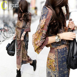 Korean style dress chiffon dress temperament