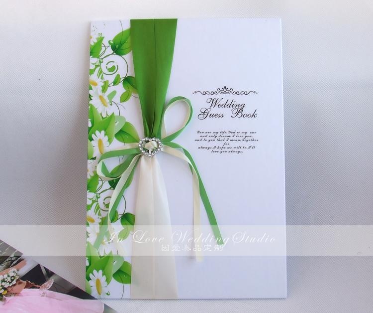 结婚婚礼定制签到本 简约签到册 商务签名册礼金簿