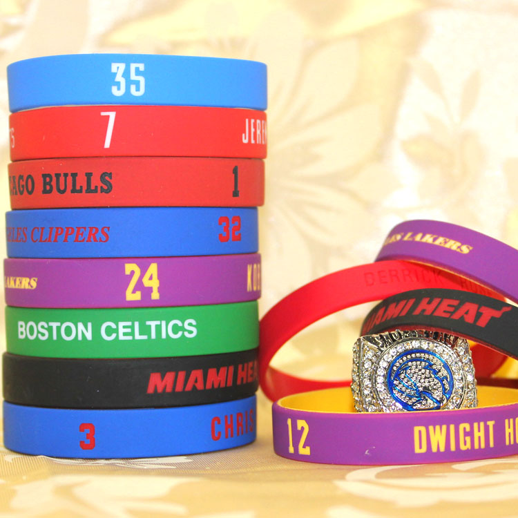NBA Lakers/heat Bryant zhanmusiluosinashidulantehuohuade wrist strap bracelet with ring