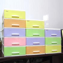 包邮 塑料抽屉式收纳盒箱办公文件分类柜多层桌面整理杂物床头柜