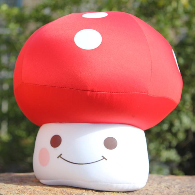 蘑菇头泡沫粒子靠垫 夏天枕 蘑菇抱枕 纳米玩具公仔玩偶