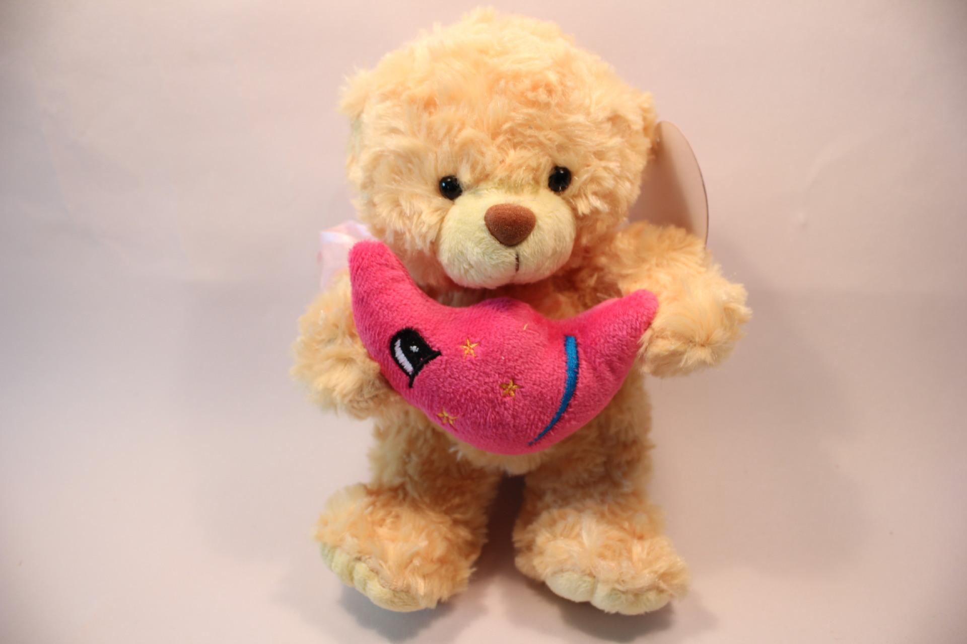 泰迪熊抱月亮玩具录音娃娃录音公仔毛绒玩具特价生日礼物七夕礼物