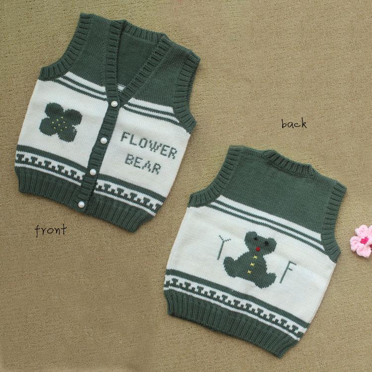 手工编织毛衣 棒针儿童毛衣开衫背心 秋冬保暖-191KB-保暖棒针毛衣