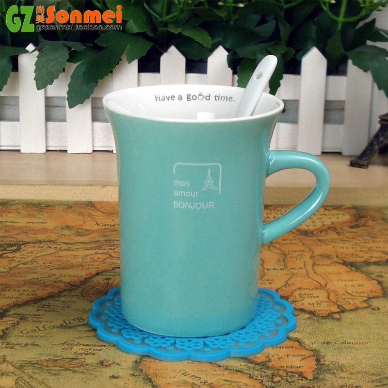 简约时尚小清新陶瓷杯子 居家办公室用品 创意情侣马克杯水杯茶杯