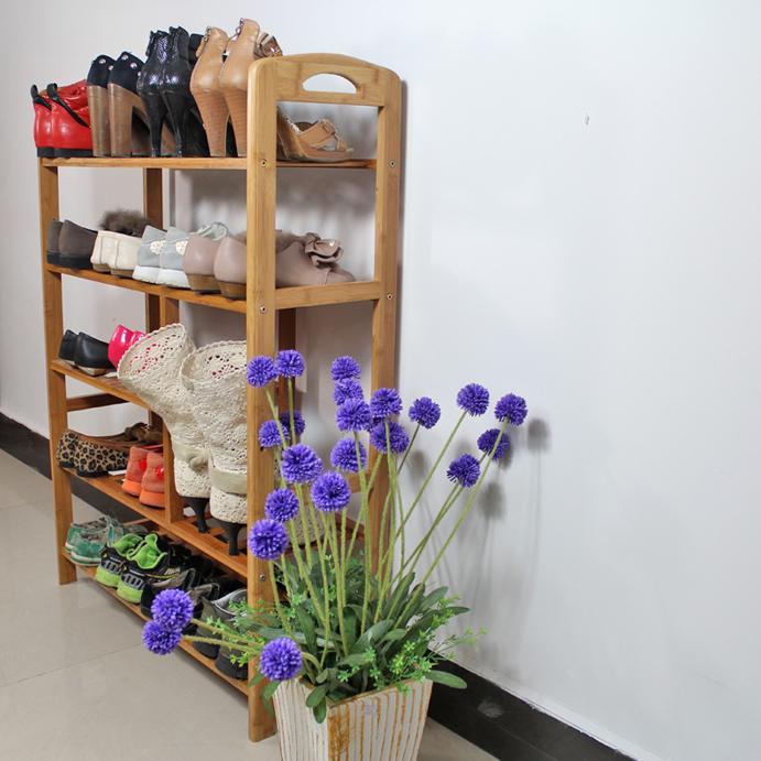 Полка для обуви Чаоян бамбука многослойных бамбука обуви обуви стойку шельфа твердого дерева бамбука сапоги дешевой мебели полки