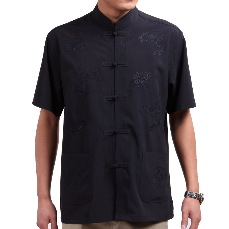 Summer 2013 new middle-aged collar shirts clothing short sleeve shirt for men aged men's casual summer dress