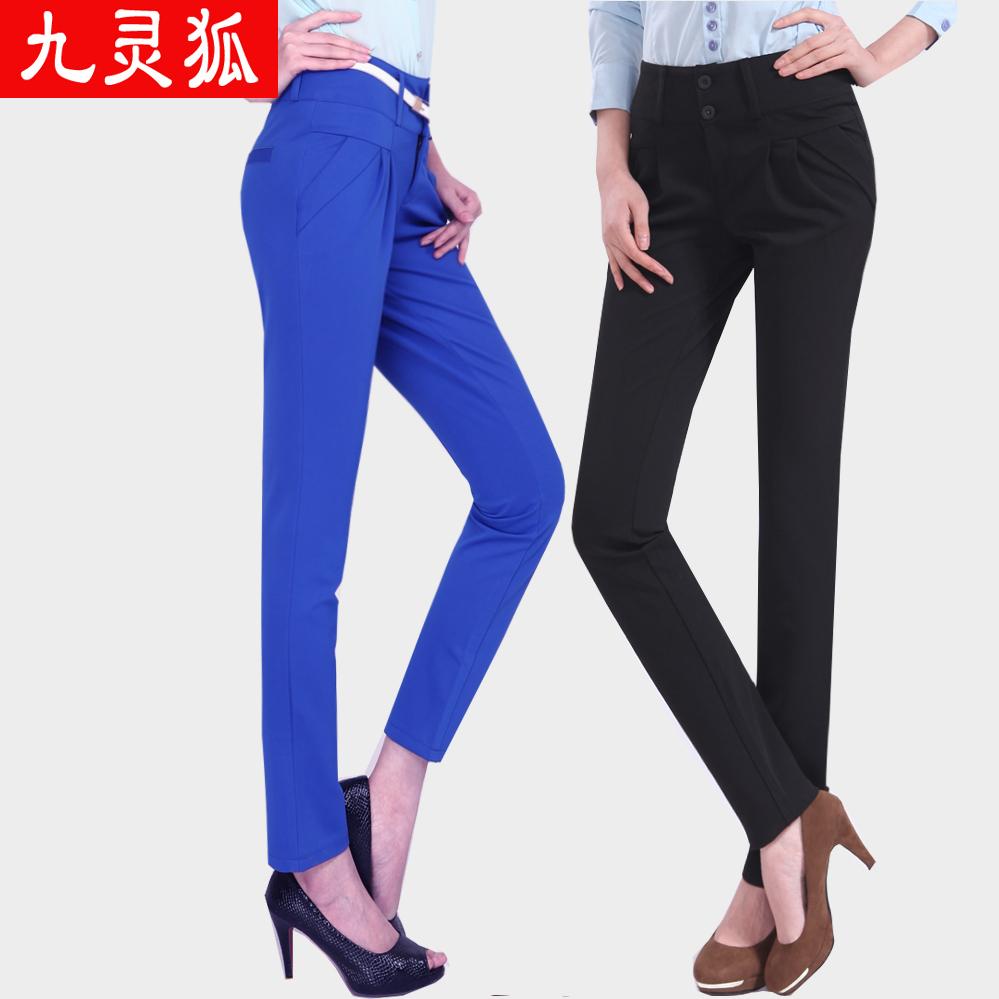 Женские брюки Jiulingweikang Fox 054 2013 Длинные брюки Галифе Повседневный 2013 года, Весна 2013 Разное Пуговицы