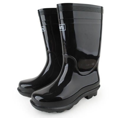 Pull back and cashmere cotton single Pikou warm waterproof rubber boots men shoes boots-in-tube rubber boots overshoes fishing shoes