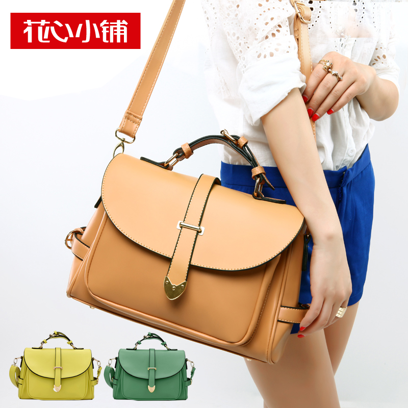 Flower shop-2013 new Korean Candy-colored vintage laptop Messenger shoulder Messenger cross-female package boom-2,209
