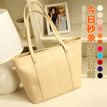 2013 summer new Korean version of the candy-colored crocodile pattern big bag Europe retro portable shoulder bag woman bag bags tide