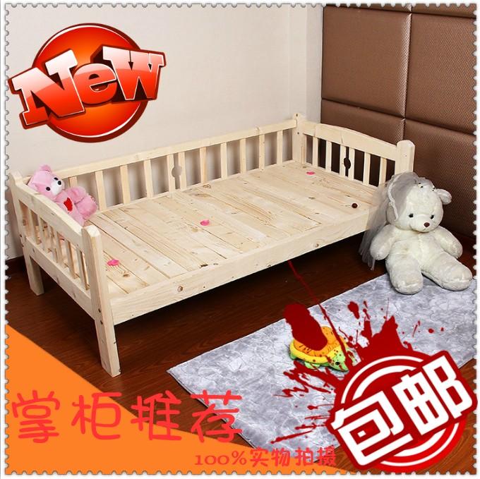 Детская кровать Специальные расширения детские кровати твердых древесины рельсы шифрования принцесса сосновые кровати кроватки детей листы детской кровати