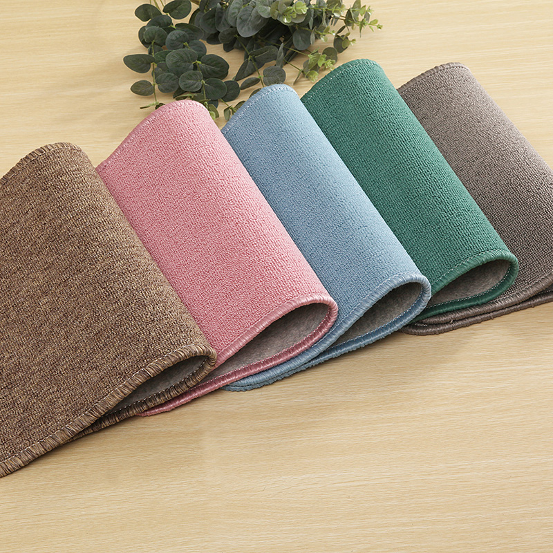 High-grade polypropylene entrance door entrance floor mats non-slip kitchen rugs rub foot Office of solid color wall-to-wall custom