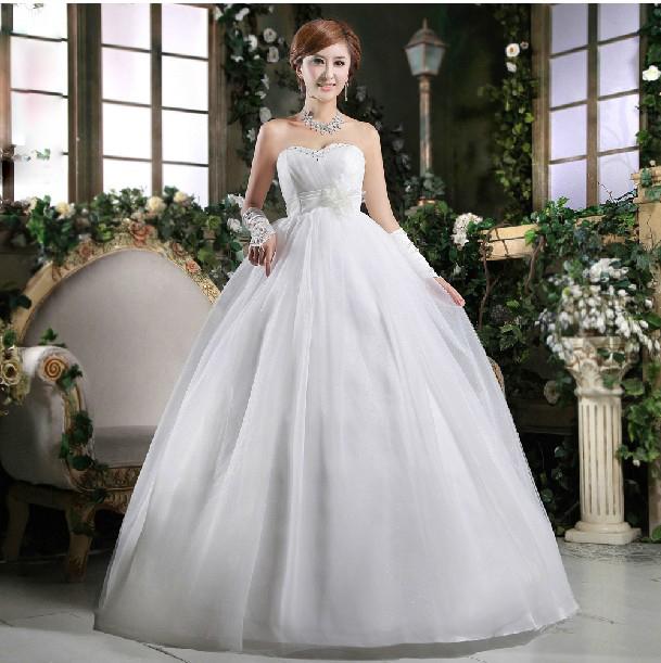 Свадебное платье Auspicious wedding dress 389 2011 Плотная ткань Принцесса с кринолином Корейский