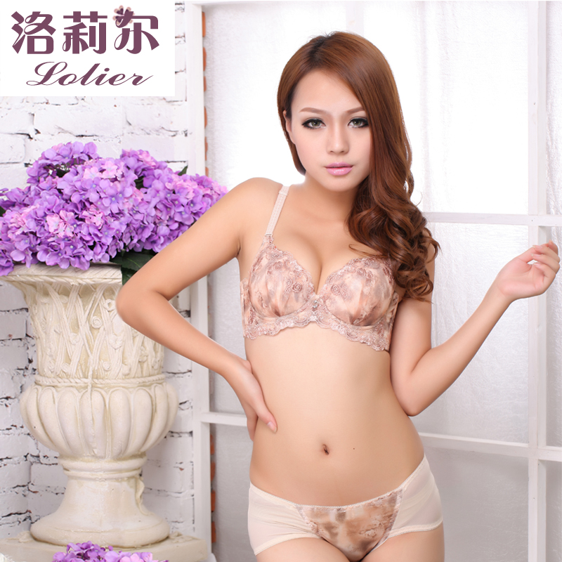 Lori-2013 new sexy gathered bra lace lingerie women received Vice-breast bra set women