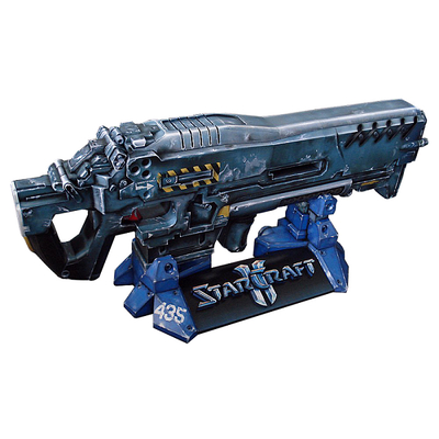 Starcraft 2 Terran gun weapon 1: 1 can be hand DIY 3D paper model free shipping printed hardcover full 68