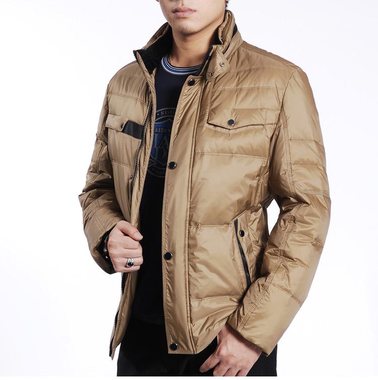 杉杉授权品牌菲莱威尔2012冬装新款立领短款羽绒服男式外套男上衣图片