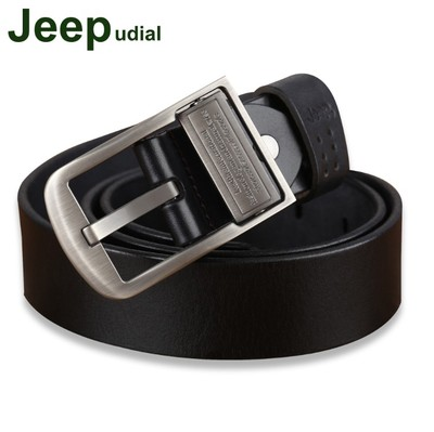 Jeep udial genuine leather men's belt buckle pin male header layer of pure leather belt wild casual Korean version of