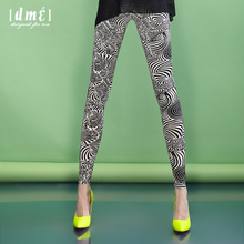 De Mana 2012 summer new women's pantyhose feet Printed Leggings pencil pants were thin women