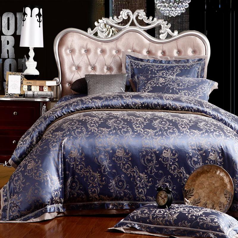 清仓全棉贡缎结婚季床上用品四件套仿真丝家纺床单婚庆床品纯棉结婚被套