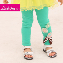 Disha 2013 summer new female children's clothing children's pants children Leggings in 13106