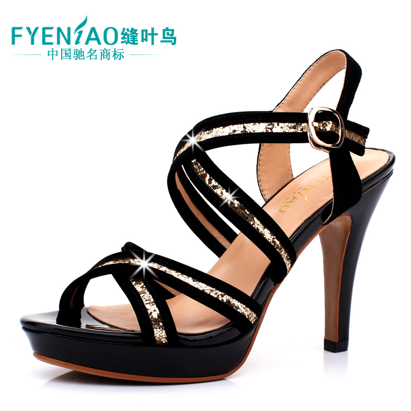 Tailorbird 2013 summer women sandal leather Roman fish mouth fine new high heels platform shoes footwear