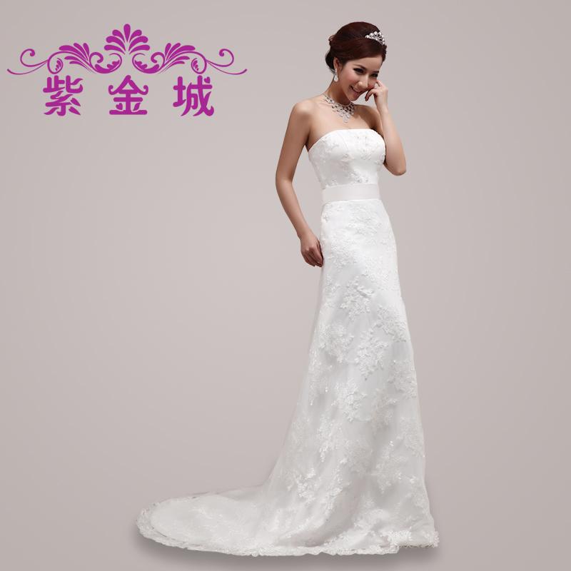 新款蕾丝新娘结婚婚纱礼服