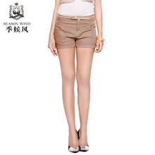 季候风夏装正品 通勤时尚修身百搭显瘦棉短休闲裤子图片