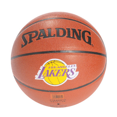 Authentic Spalding basketball 74-094 nba pu leather spalding Lakers team logo ball Specials Blue