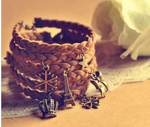 独家原创 特价情侣手链一对女男士韩版时尚复古本命年编织手链