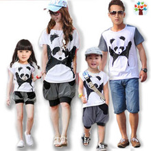 2 Panda Family fitted summer 2013 models a mother and daughter three children suit all home improvement