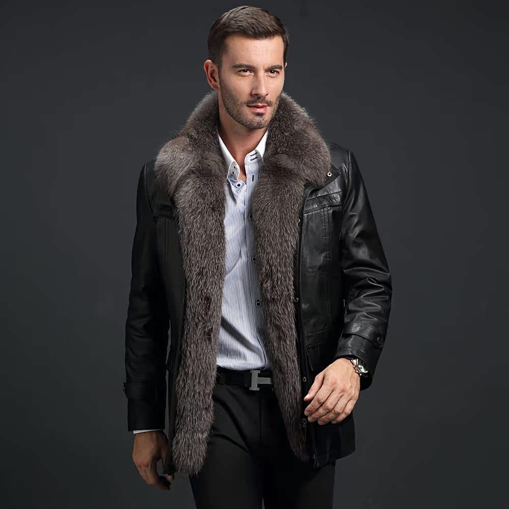 Мужской Кожаные Пальто С Мехом