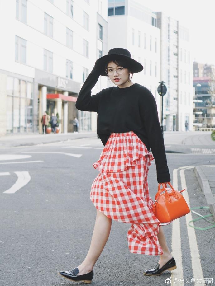 大米可英国代购 ASOS 格子半身裙